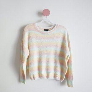 Lumiere Pastel Stripe Light Knit Sweater